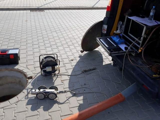 Hydrokan przed inspekcją rury Ø 400